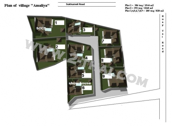 Amaliya Village Pattaya Condo  - Hot Deals - Buy Resale - Price, Thailand - Houses, Location map, address