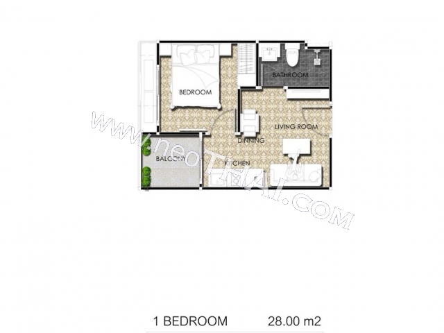 Pattaya, Apartment - 28 sq.m.; Sale price - 3.920.000 THB; Arcadia Center Suites