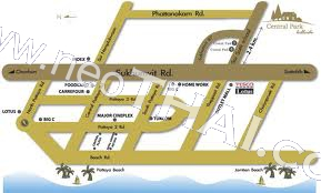 Central Park Hill Side Pattaya Condo  - Hot Deals - Buy Resale - Price, Thailand - Houses, Location map, address