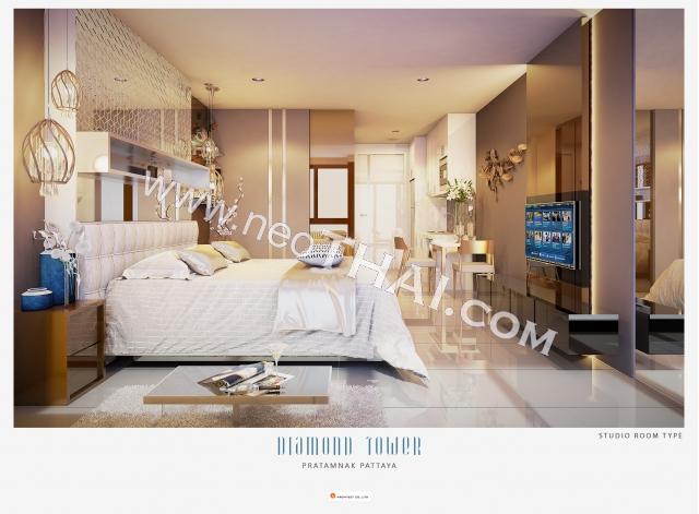 Pattaya, Studio - 28 sq.m.; Sale price - 3.346.000 THB; Diamond Tower