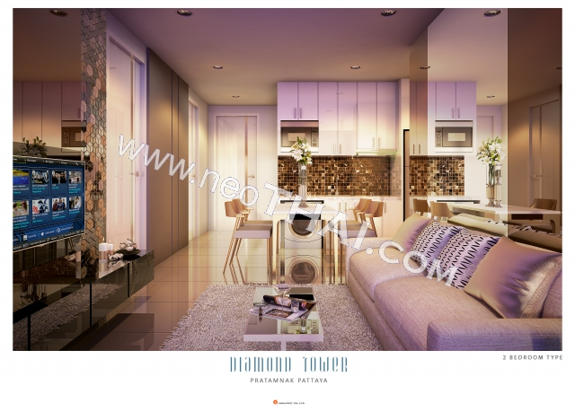 Pattaya, Apartment - 56 sq.m.; Sale price - 6.748.000 THB; Diamond Tower