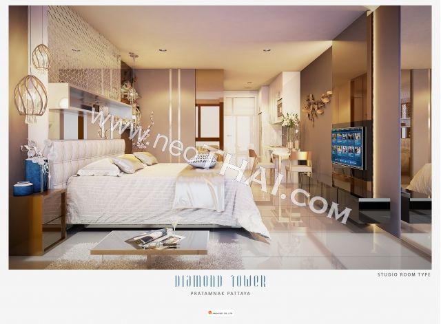Pattaya, Studio - 30 sq.m.; Sale price - 4.740.000 THB; Diamond Tower