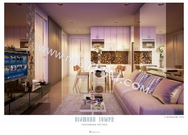 Pattaya, Apartment - 56 sq.m.; Sale price - 8.848.000 THB; Diamond Tower