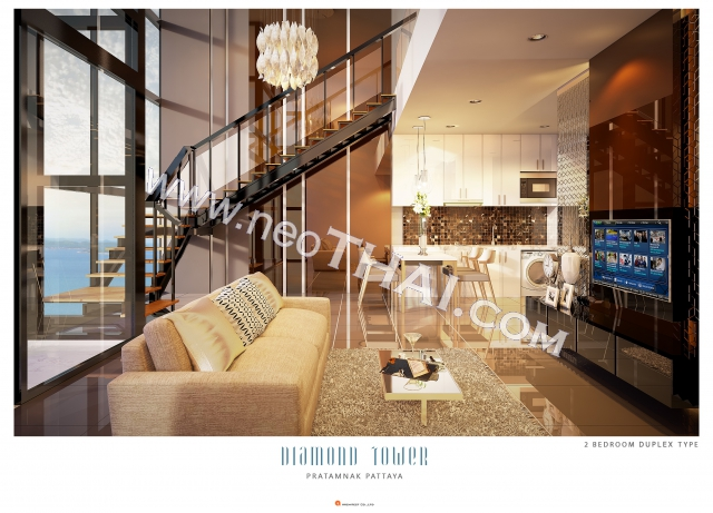 Pattaya, Apartment - 95 m²; Prix de vente - 15.485.000 THB; Diamond Tower