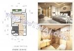 芭堤雅, 两人房间 - 25 m²; 出售的价格 - 2.298.000 泰銖; Dusit Grand Park 2