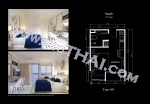 Pattaya, Studio - 23.5 kv.m; Salgspris - 1.990.000 THB; Empire Tower Pattaya