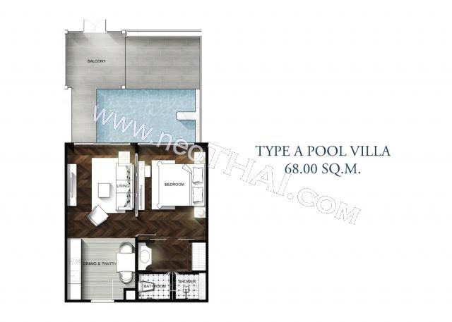芭堤雅, 公寓 - 68 m²; 出售的价格 - 8.400.000 泰銖; Grand Florida Beachfront