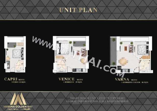 Pattaya, Apartment - 29 sq.m.; Sale price - 2.900.000 THB; Marina Golden Bay