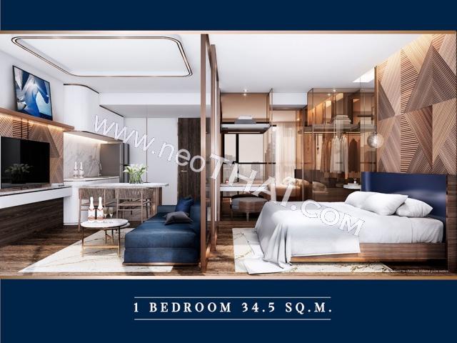 Pattaya, Apartment - 34.5 sq.m.; Sale price - 3.660.000 THB; The Luciano Pattaya