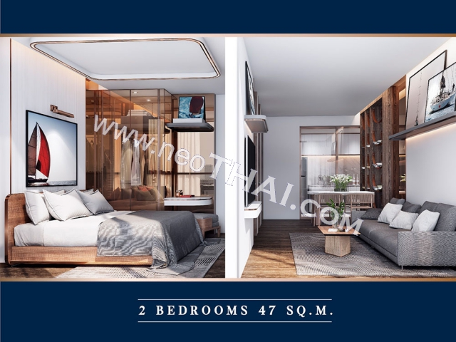Pattaya, Apartment - 47 sq.m.; Sale price - 5.180.000 THB; The Luciano Pattaya