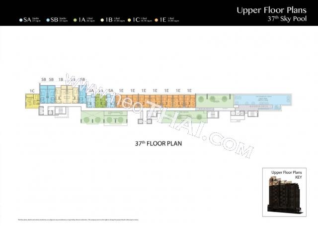 Pattaya, Apartment - 35 sq.m.; Sale price - 4.150.000 THB; The Riviera Jomtien