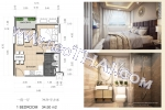 พัทยา, อพาร์ทเมนท์ - 34.5 ตรม; ราคาขาย - 2,530,000 บาท; ดุสิต แกรนด์ พาร์ค 2 - Dusit Grand Park 2