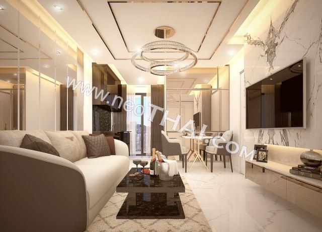 Pattaya, Apartment - 29 m²; Prix de vente - 2.980.000 THB; Grand Solaire Pattaya