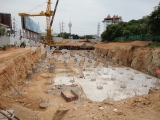 13 May 2011 The Axis Condominium, Pattaya - The first stage in construction. Laying the Foundation.