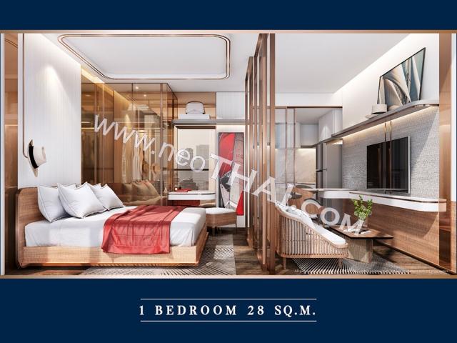 Pattaya, Apartment - 28 m²; Prix de vente - 2.880.000 THB; The Luciano Pattaya